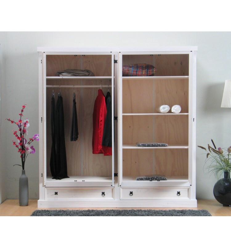 kleiderschrank 4trg massiv kiefer mexico new mexiko. Black Bedroom Furniture Sets. Home Design Ideas
