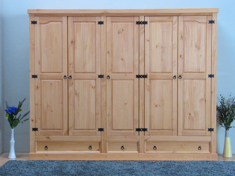 5trg massiv kiefer mexico kleiderschrank new mexiko schlafzimmer schrank natur m bel wohnen. Black Bedroom Furniture Sets. Home Design Ideas