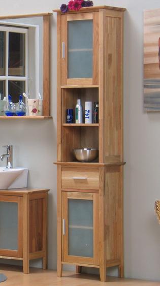 Badezimmer Hochschrank Holz