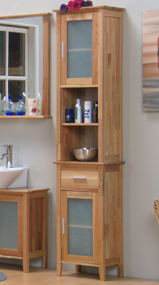badezimmer hochschrank barcelona badm bel schrank walnuss massiv neu ebay. Black Bedroom Furniture Sets. Home Design Ideas