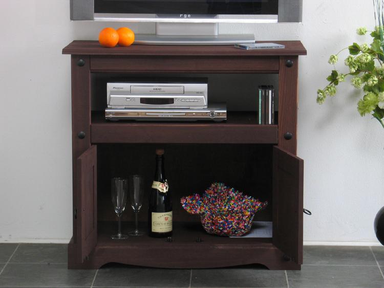 mexico tv tisch tex schrank tv m bel hifi kiefer massiv kolonial gewachst neu ebay. Black Bedroom Furniture Sets. Home Design Ideas