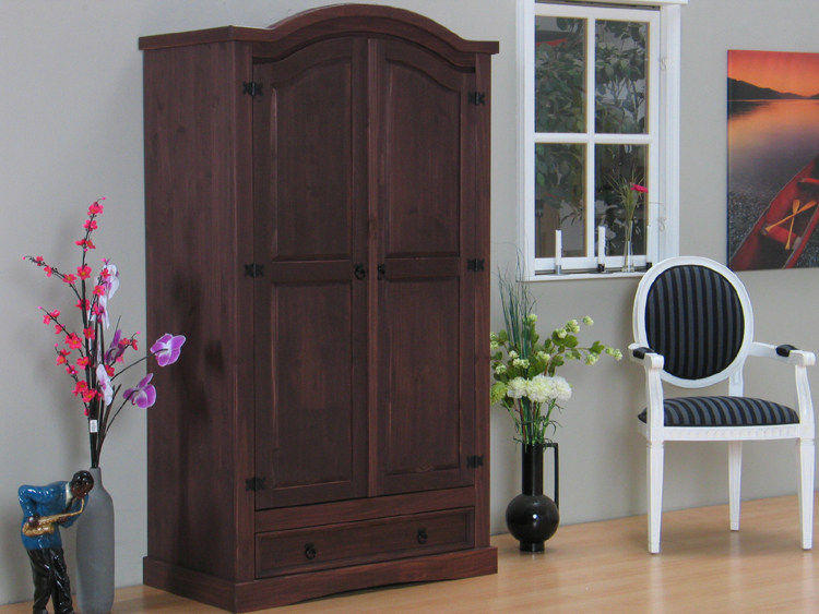mexico 2trg kleiderschrank tex schrank kiefer kolonial ebay. Black Bedroom Furniture Sets. Home Design Ideas