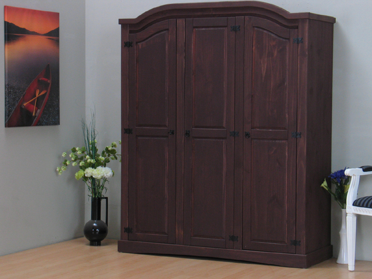 3trg mexico kleiderschrank tex schrank kiefer kolonial. Black Bedroom Furniture Sets. Home Design Ideas