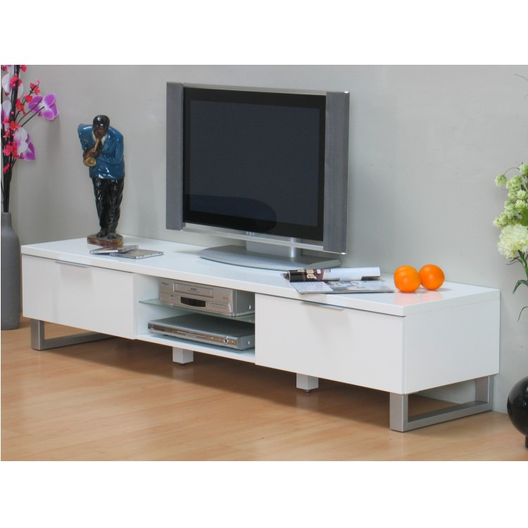 tv tisch toronto fernsehtisch lowboard tv hifi schrank kommode wei hochglanz. Black Bedroom Furniture Sets. Home Design Ideas
