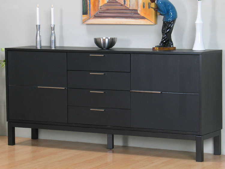 sideboard sirius lowboard anrichte massiv holz schwarz ebay. Black Bedroom Furniture Sets. Home Design Ideas