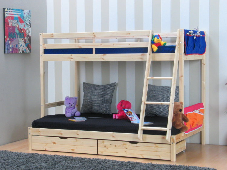 thuka massivholz kinder etagenbett zubeh r hochbett kinderbett bett doppelbett. Black Bedroom Furniture Sets. Home Design Ideas