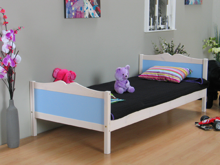 einzelbett kids kinderbett bett 90x200 massiv kiefer ebay. Black Bedroom Furniture Sets. Home Design Ideas