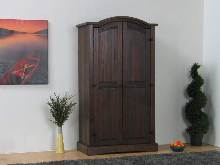 2trg kiefer mexico kleiderschrank miguel massiv kolonial. Black Bedroom Furniture Sets. Home Design Ideas