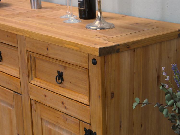 sideboard mexico miguel massiv kiefer gelaugt anrichte kommode lowboard neu ebay. Black Bedroom Furniture Sets. Home Design Ideas