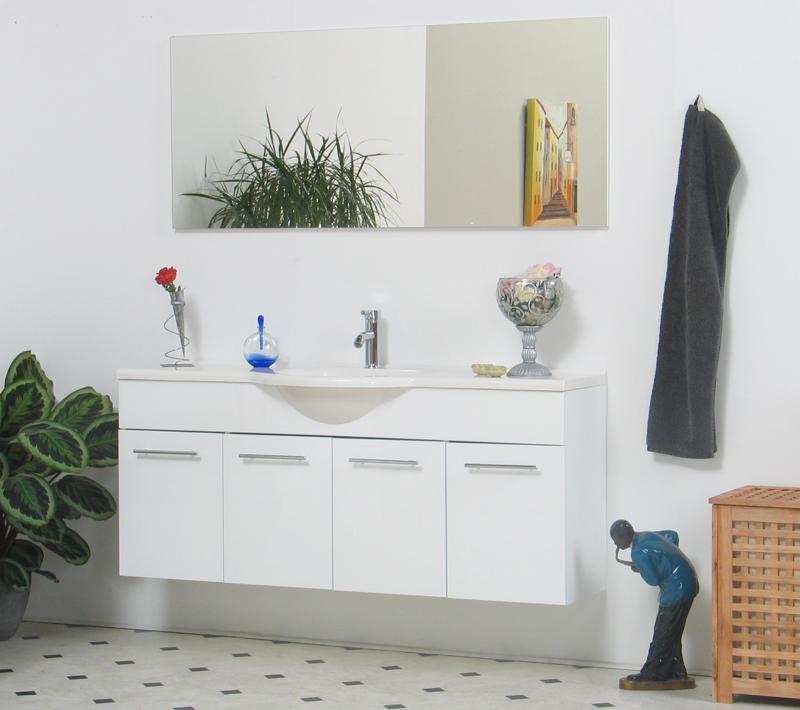 Badm bel badezimmer wei spiegel marmor waschtisch neu ebay for Marmor couchtisch neu