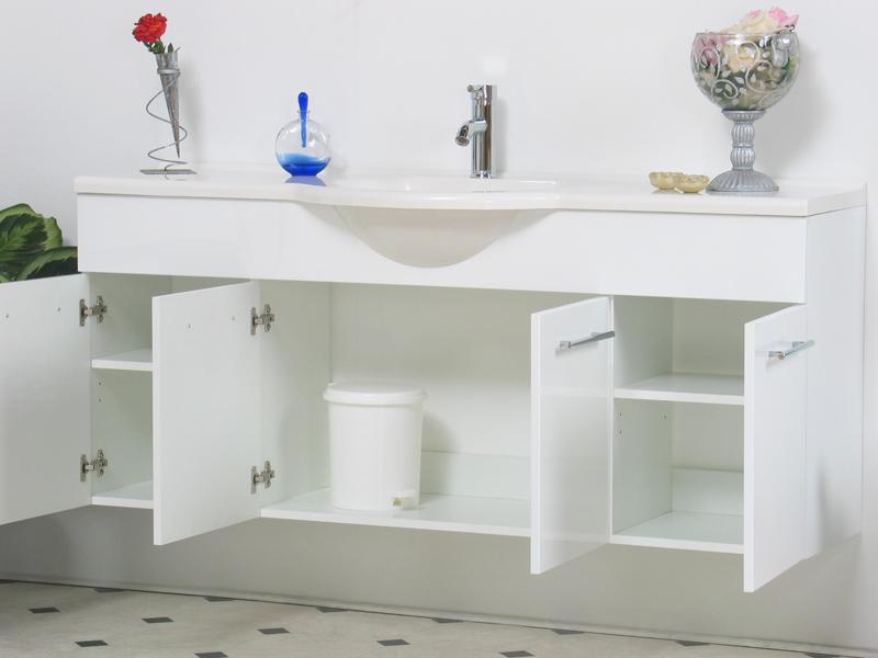 badm bel badezimmer wei spiegel marmor waschtisch neu ebay. Black Bedroom Furniture Sets. Home Design Ideas