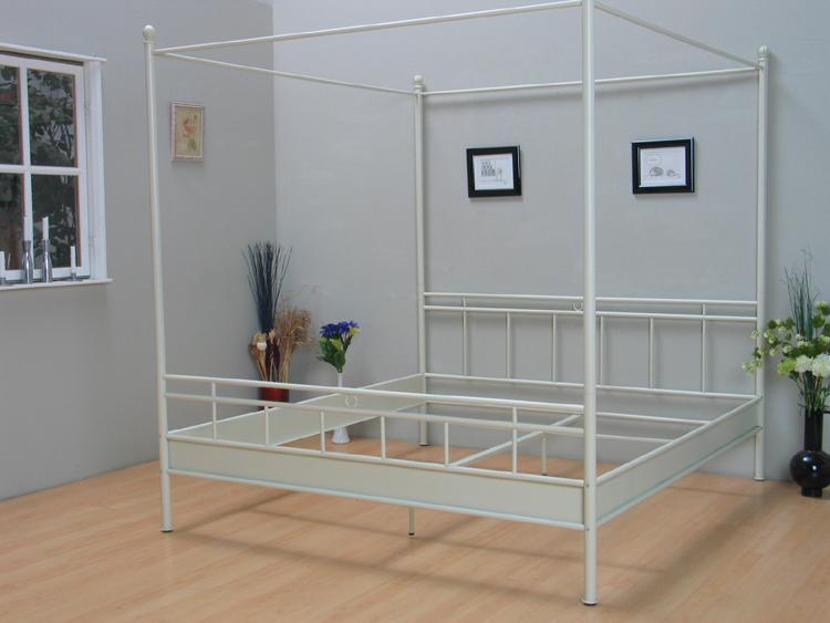 landhaus metall doppelbett himmelbett ehebett metallbett himmel bett bettgestell ebay. Black Bedroom Furniture Sets. Home Design Ideas