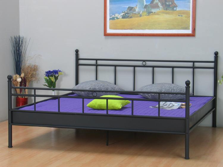 Metallbett bett 160x200 louise schwarz ehebett doppelbett for Bett schwarz 160x200