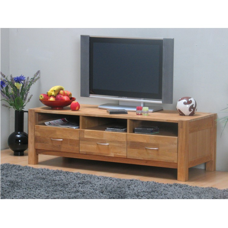 tv hifi tisch derby fernsehtisch hifi m bel holz 3 schubladen eiche ge lt ebay. Black Bedroom Furniture Sets. Home Design Ideas