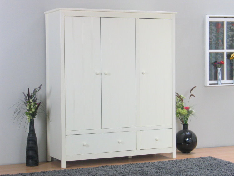 kleiderschrank annabella 3 t rig schlafzimmer jugendzimmer schrank creme wei ebay. Black Bedroom Furniture Sets. Home Design Ideas