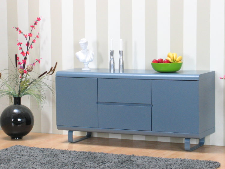 sideboard nancy highboard schubladen kommode anrichte schrank m bel grau matt ebay. Black Bedroom Furniture Sets. Home Design Ideas