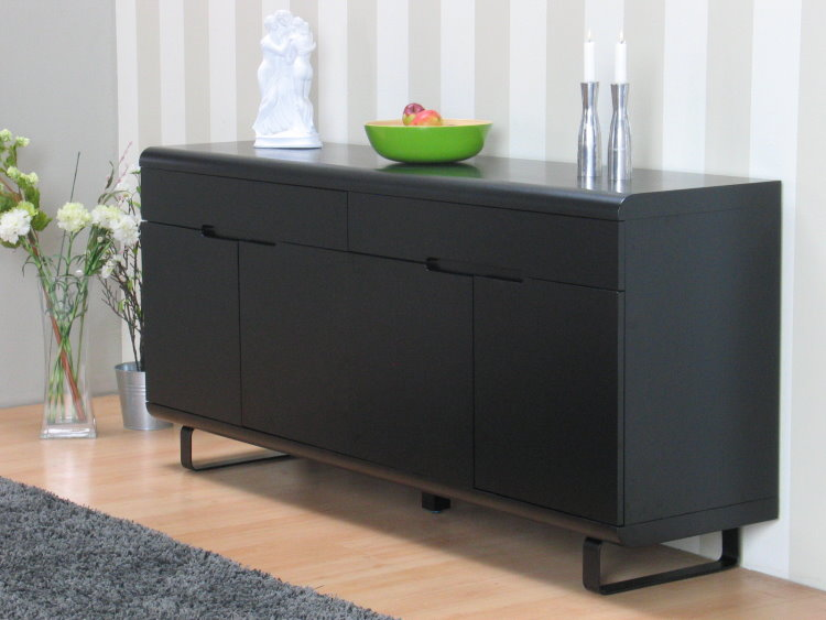Sideboard schwarz matt  Design Sideboard Nancy Highboard Kommode Anrichte Schrank Möbel ...