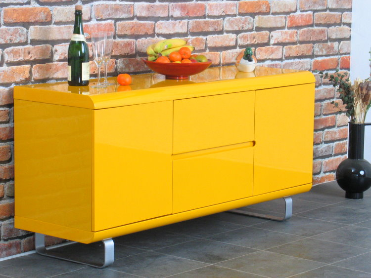 Sideboard spacy kommode highboard anrichte buffet schrank for Sideboard gelb
