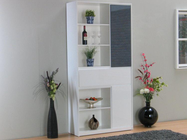 regal uptown hochglanz grau weiss schrank standregal. Black Bedroom Furniture Sets. Home Design Ideas