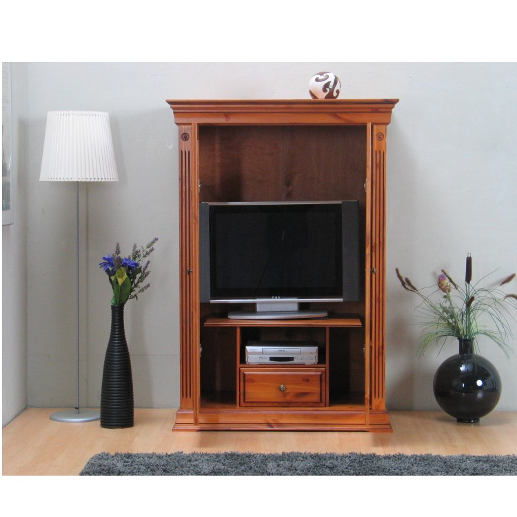 fernseh schrank gusthof phono tv hifi media m bel schrank kiefer massiv. Black Bedroom Furniture Sets. Home Design Ideas