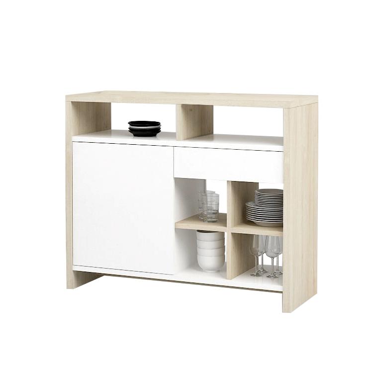 bartisch james bartheke tresen stehtisch k chentheke hochglanz eiche dekor ebay. Black Bedroom Furniture Sets. Home Design Ideas