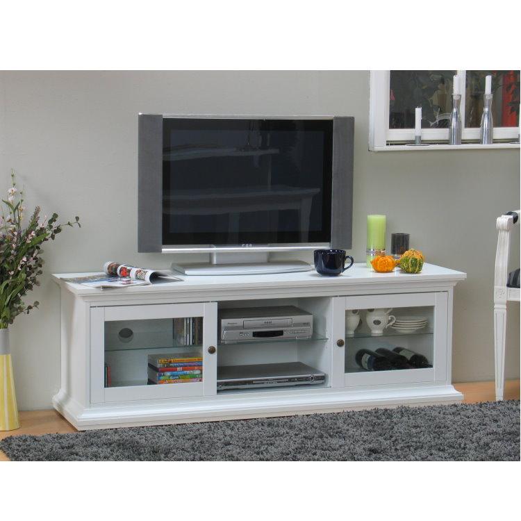 paris tv hifi tisch board lowboard phono schrank kommode wei landhaus ebay. Black Bedroom Furniture Sets. Home Design Ideas