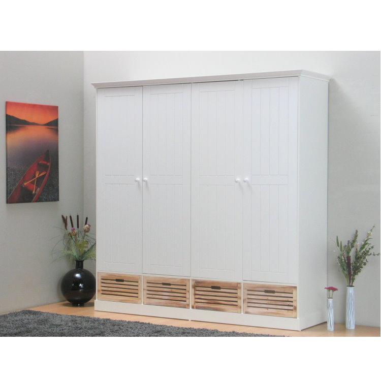 4 t riger kleiderschrank paulina schlafzimmerschrank. Black Bedroom Furniture Sets. Home Design Ideas