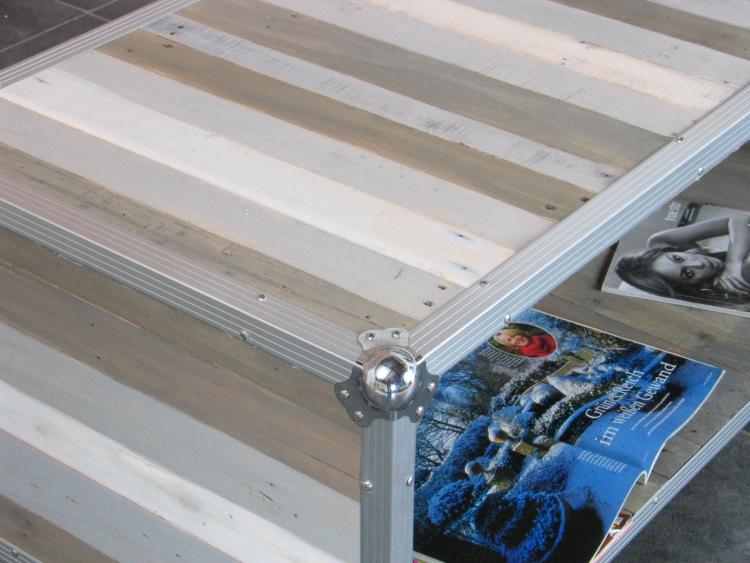 Designer Flightcase Couchtisch Beistelltisch Multifunktion