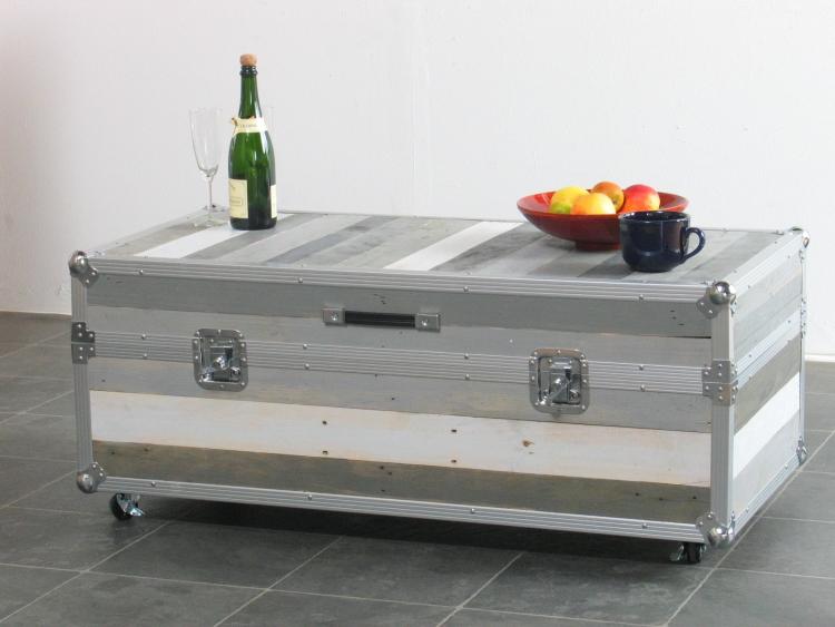 Designer Flightcase Truhentisch Couchtisch Multifunktion