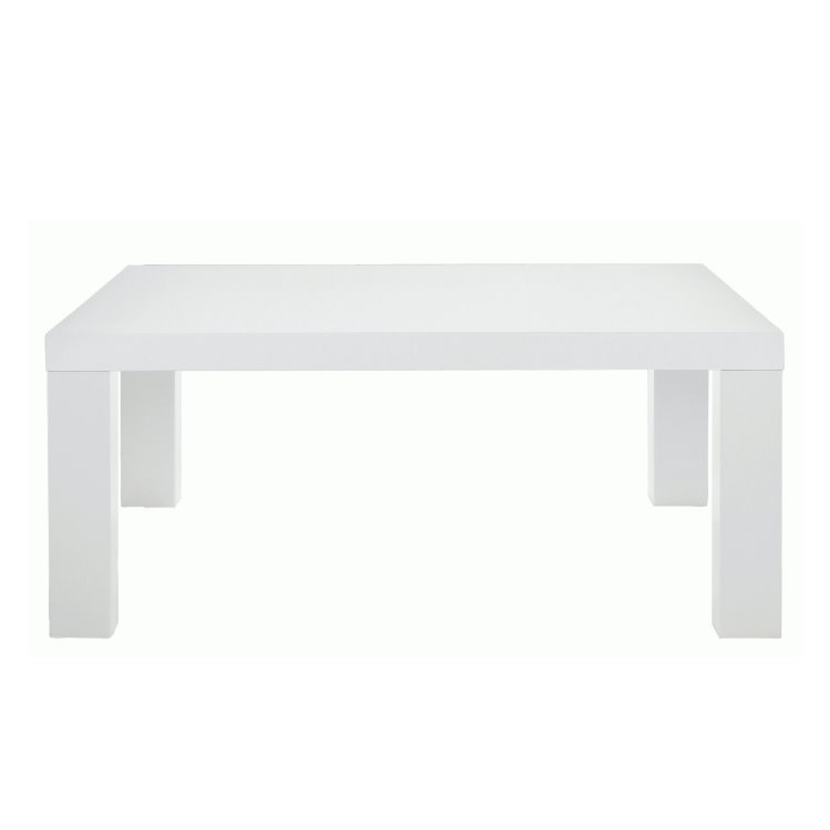 pkline couchtisch 90x90 cm weiss hochglanz wohnzimmer holz tisch ebay. Black Bedroom Furniture Sets. Home Design Ideas