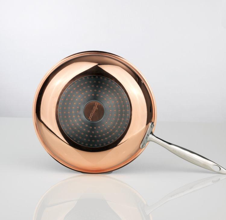 brat maxx kupferpfanne 28cm pfanne bratpfanne kupfer induktion aus dem tv ebay. Black Bedroom Furniture Sets. Home Design Ideas