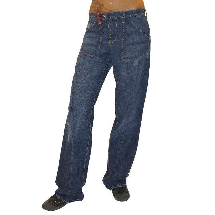 met design damen stretch jeans jeanshose chino baggy hose gerades bein. Black Bedroom Furniture Sets. Home Design Ideas