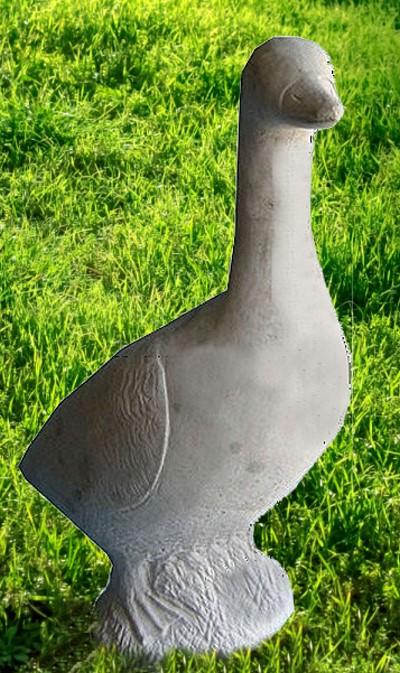 Massive gans 58cm beton 28kg steinfiguren tier figur for Steinfiguren garten tiere
