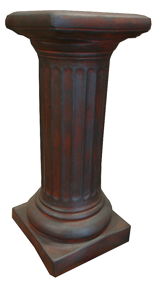 massive s ule 40cm pisa beton 30kg betons ule steins ule garten deko antik red ebay. Black Bedroom Furniture Sets. Home Design Ideas