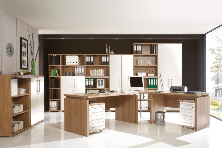 germania holz schreibtisch computertisch b rotisch pc tisch b rom bel nussbaum ebay. Black Bedroom Furniture Sets. Home Design Ideas