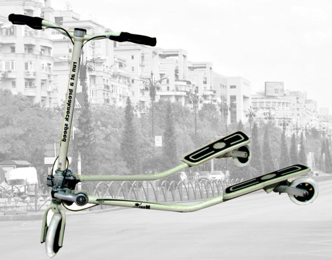 mski roller tri scooter 3 r der cityroller fitness fahrrad. Black Bedroom Furniture Sets. Home Design Ideas