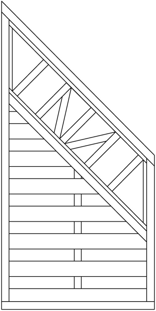 joda holz dichtzaun abschlu malaga schiefer gartenzaun sichtschutz garten ebay. Black Bedroom Furniture Sets. Home Design Ideas