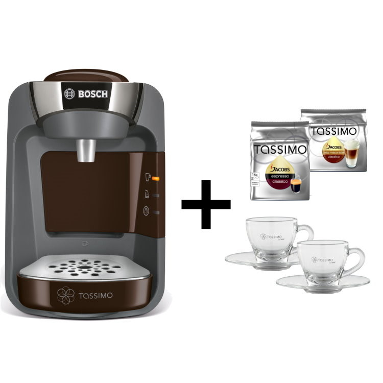 bosch tassimo suny 20 eur gutscheine 2x tdiscs gl ser hei getr nkemaschine. Black Bedroom Furniture Sets. Home Design Ideas