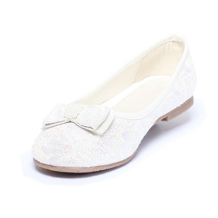 m dchen ballerina gr 24 31 mit spitze sandalen sommerschuhe kinder schuhe creme ebay. Black Bedroom Furniture Sets. Home Design Ideas