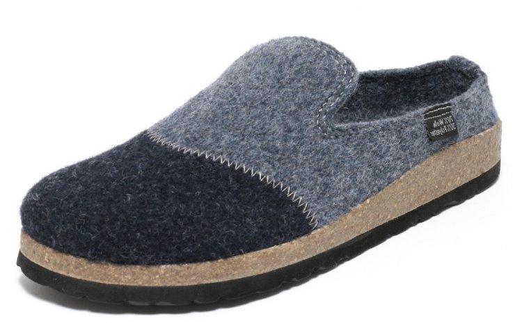 herren filz hausschuhe pantoletten pantoffeln puschen haus schuhe blau ebay. Black Bedroom Furniture Sets. Home Design Ideas