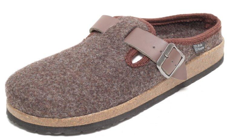 herren filz hausschuhe pantoletten pantoffeln puschen haus schuhe braun ebay. Black Bedroom Furniture Sets. Home Design Ideas
