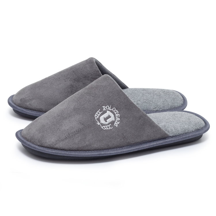 herren fleece hausschuhe pantoffeln slipper g ste puschen latschen schuhe ebay. Black Bedroom Furniture Sets. Home Design Ideas