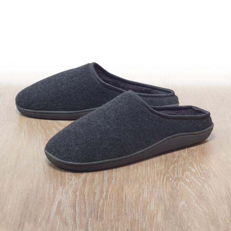 herren filzclogs filz hausschuhe slipper puschen pantoffeln schuhe clogs ebay. Black Bedroom Furniture Sets. Home Design Ideas