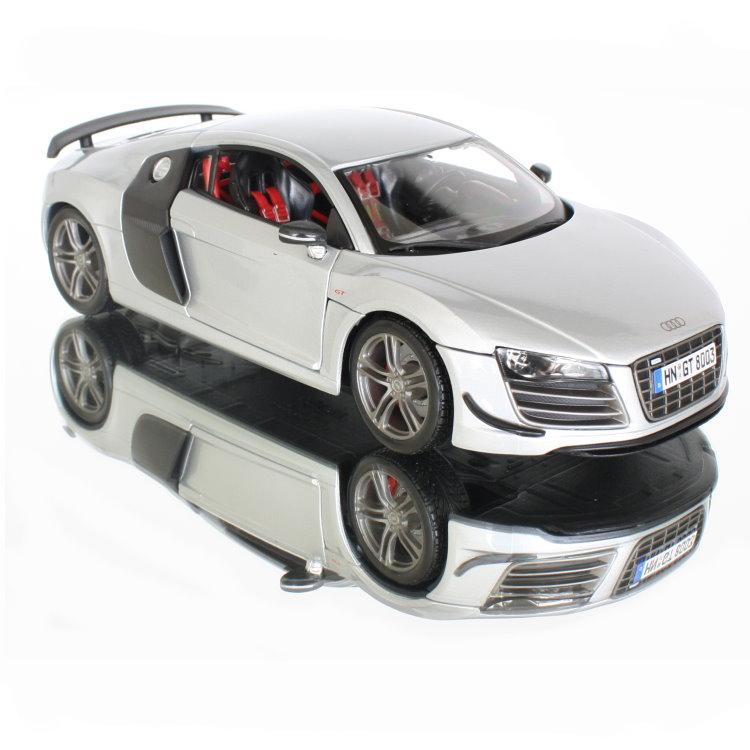 maisto audi r8 gt3 in silber modell auto 1 18 modellauto neu ebay. Black Bedroom Furniture Sets. Home Design Ideas