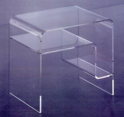 acryltisch acryl tisch plexiglas acrylglas 38cm neu ebay. Black Bedroom Furniture Sets. Home Design Ideas