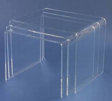 acryltisch acryl tisch 3 teilig plexiglas acrylglas neu ebay. Black Bedroom Furniture Sets. Home Design Ideas