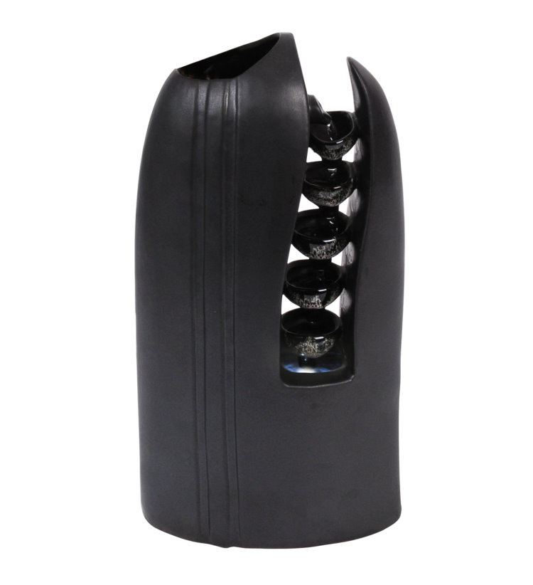 Led room fountain with vase tabletop air humidifier deco black ebay for Air deco