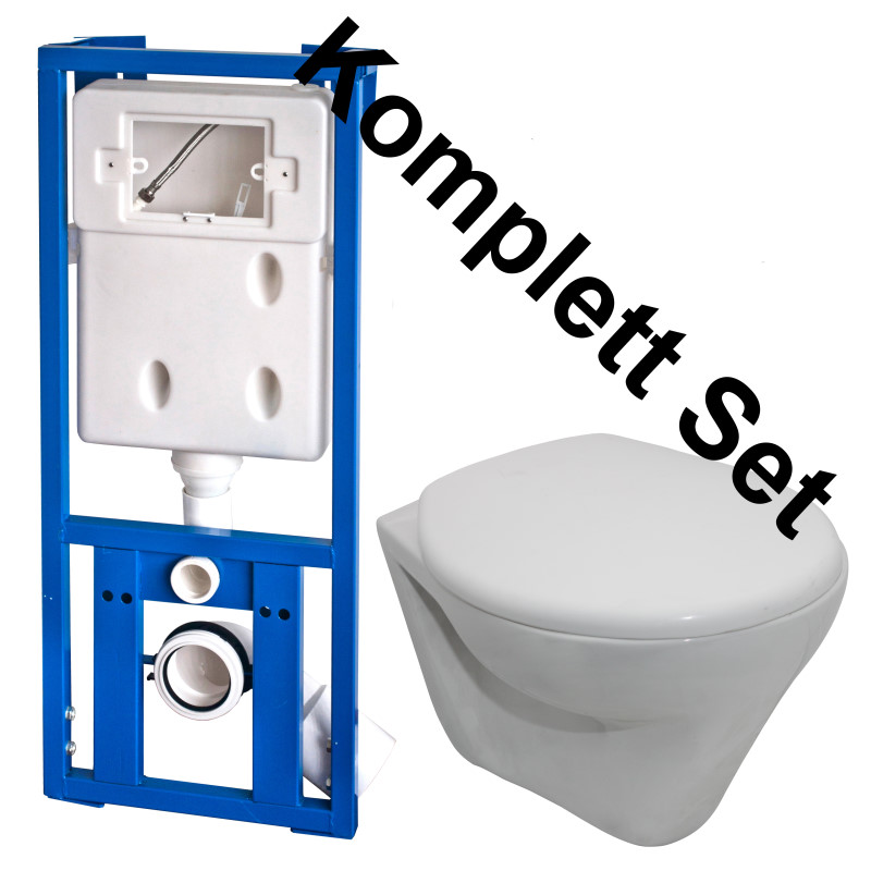 wc komplett set vorwandelement sp lkasten h ngewand wc toiletten set ebay. Black Bedroom Furniture Sets. Home Design Ideas