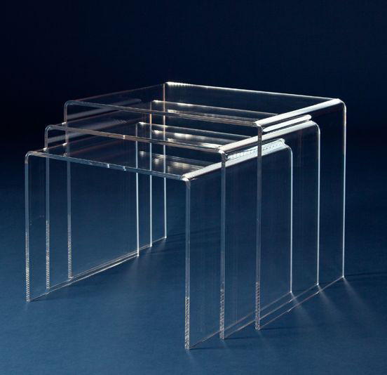 acryltisch set acryl tisch 3 teilig plexiglas acrylglas neu ebay. Black Bedroom Furniture Sets. Home Design Ideas