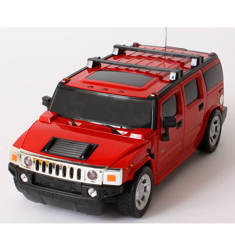 rc modell auto hummer h2 mit fernsteuerung 1 24 in gelb. Black Bedroom Furniture Sets. Home Design Ideas